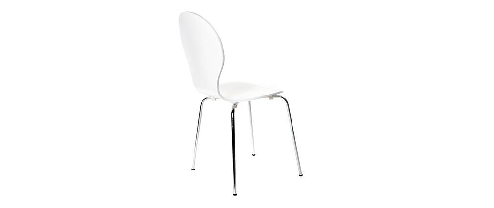 Gruppo di 2 sedie design color bianco NEW ABIGAIL