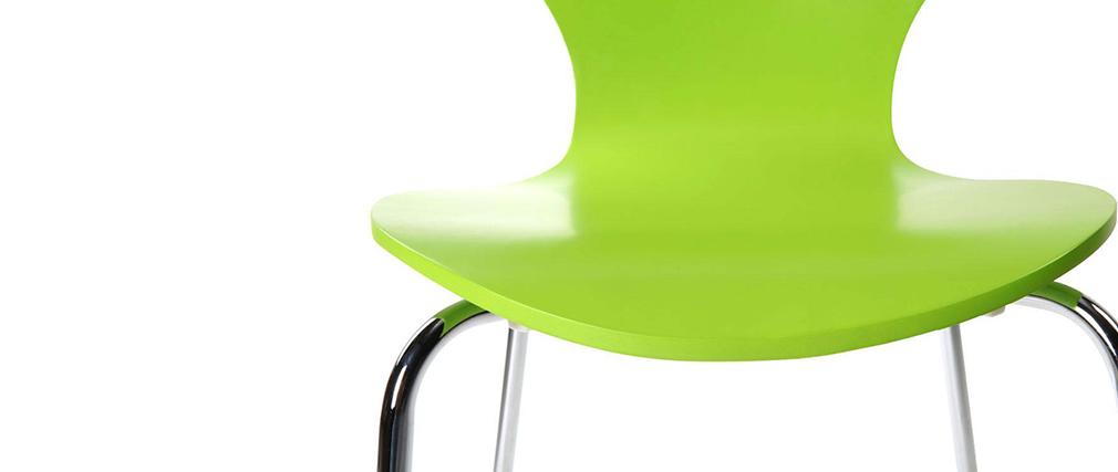 Gruppo di 2 sedie design color verde mela NEW ABIGAIL