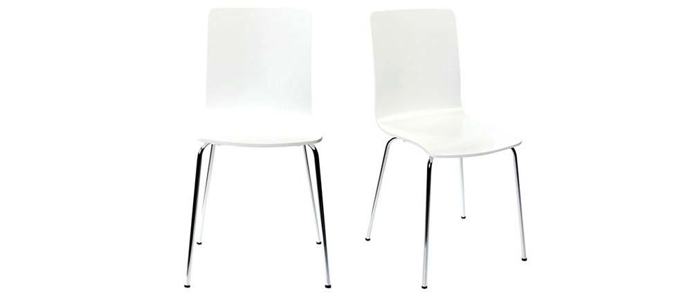 Gruppo di 2 sedie design colore bianco NELLY