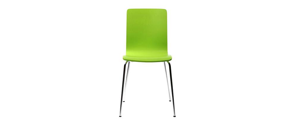 Gruppo di 2 sedie design colore verde mela NELLY - Miliboo