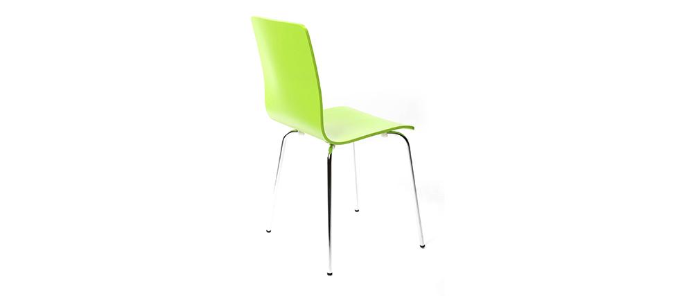 Gruppo di 2 sedie design colore verde mela NELLY