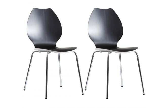 Trendy view images gruppo di sedie design da cucina nere for Sedie moderne nere