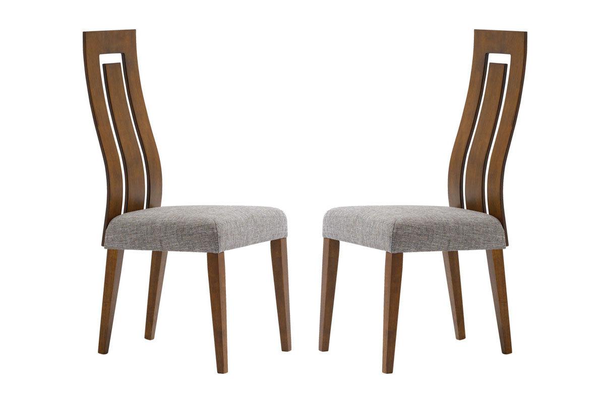 Gruppo di 2 sedie design in legno color cioccolato vally - Sedie in legno design ...