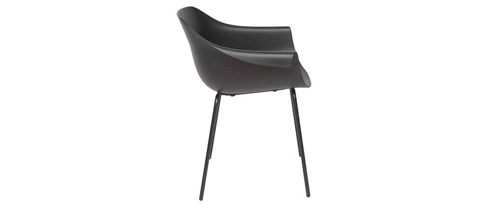 Gruppo di 2 sedie design nere COUTURE