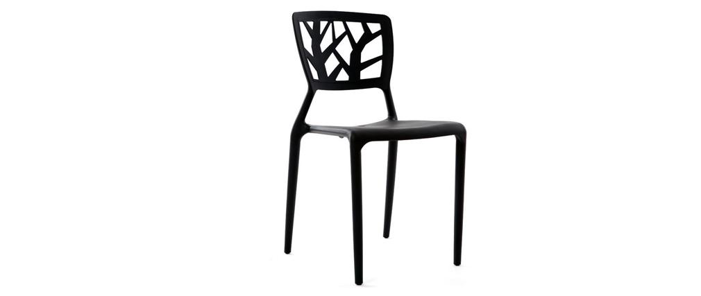 Gruppo di 2 sedie design nere KATIA