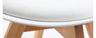 Gruppo di 2 sedie design piede legno seduta bianca PAULINE