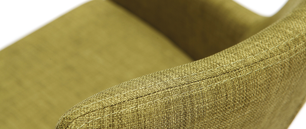 Gruppo di 2 sedie design poliestere verde SHANA