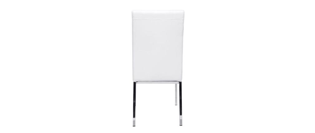Gruppo di 2 sedie design poliuretano bianco SIMEA