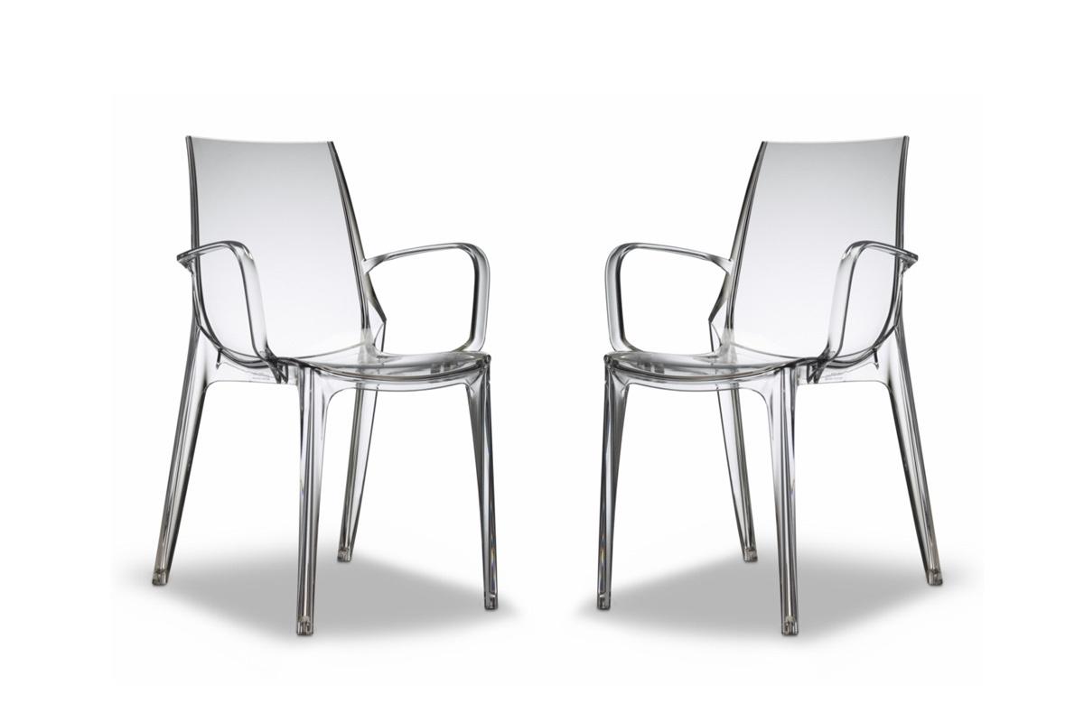 Gruppo di 2 sedie design trasparenti aerial miliboo for Sedie design