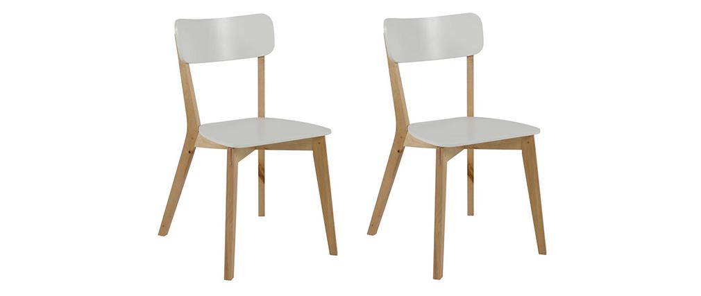 Gruppo di 2 sedie in betula colore bianco LAENA