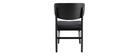 Gruppo di 2 sedie in legno nero e tessuto grigio scuro SHELDON