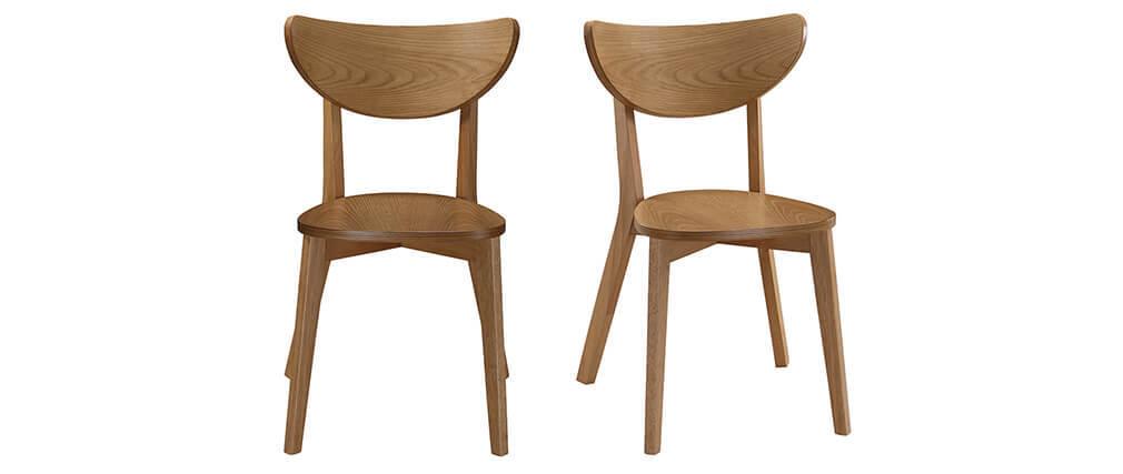 Gruppo di 2 sedie quercia LEENA