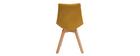 Gruppo di 2 sedie scandinave in tessuto giallo MATILDE