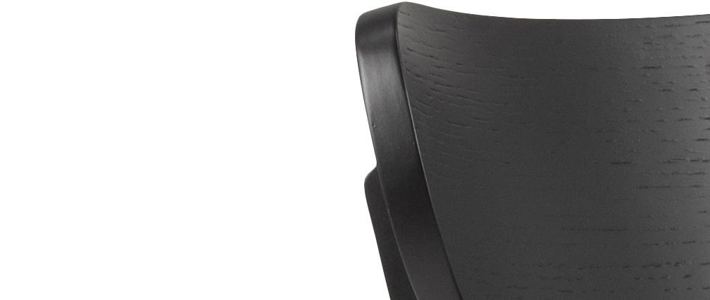 Gruppo di 2 sedie scandinave legno nero BAKI
