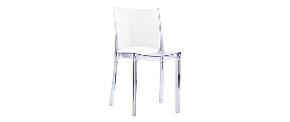 Gruppo di 2 sedie trasparenti design KALYA