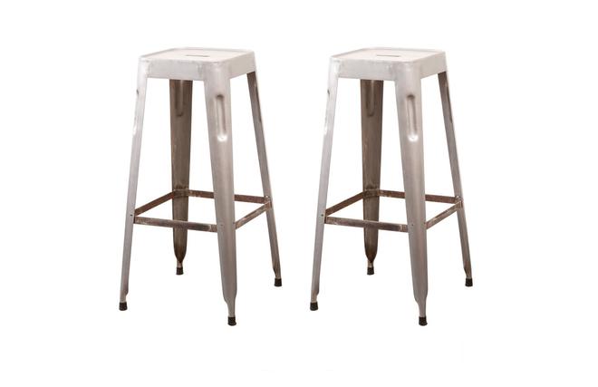 Sgabello Design Industriale : Gruppo di sgabelli alti design industriale metallo grigio