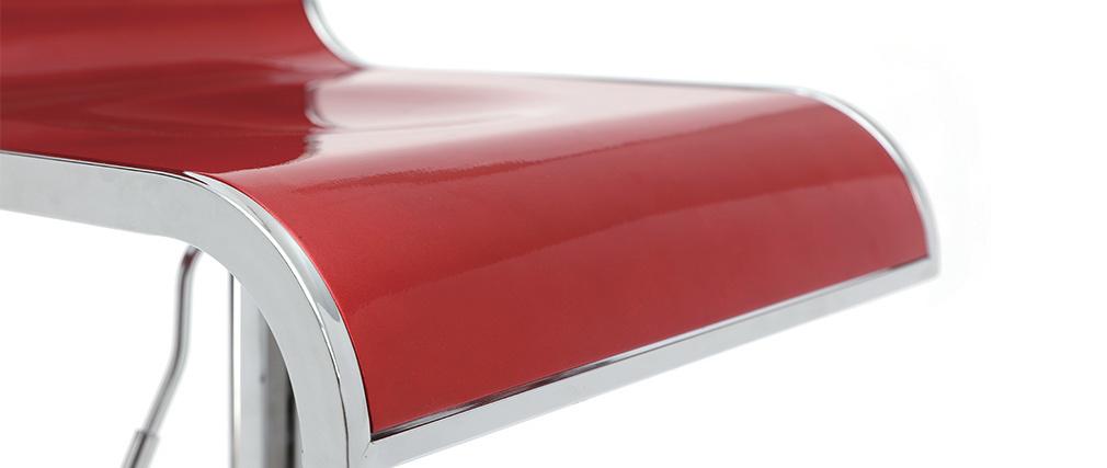 Gruppo di 2 sgabelli da bar color vinaccio WAVES