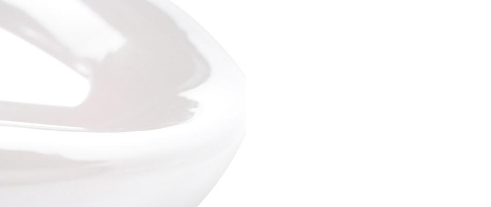 Gruppo di 2 sgabelli da bar COMET bianco