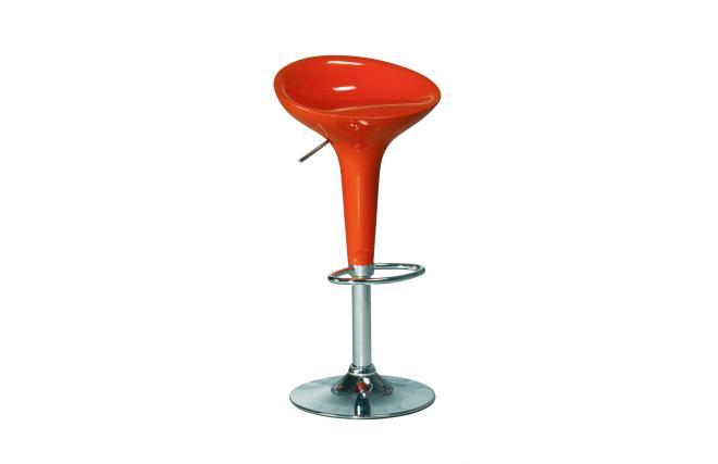 Gruppo di 2 sgabelli da bar cucina arancioni design for Sgabelli bar di design