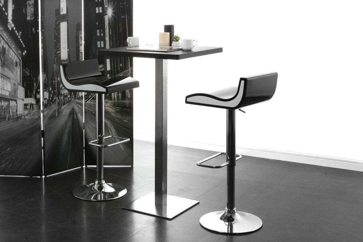 Gruppo di sgabelli da bar cucina design nero ondy miliboo