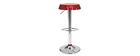 Gruppo di 2 sgabelli da bar/ cucina regolabili NEW CAPSULE - colore vinaccia