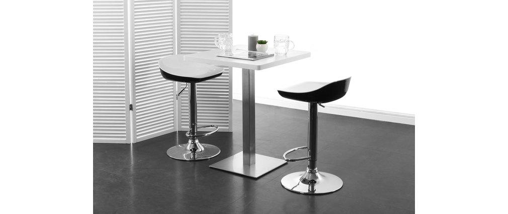 Gruppo di 2 sgabelli da bar design bianchi e neri pomy   miliboo