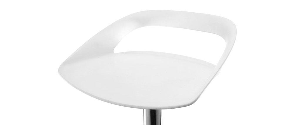 Gruppo di 2 sgabelli da bar design bianchi PHENIX
