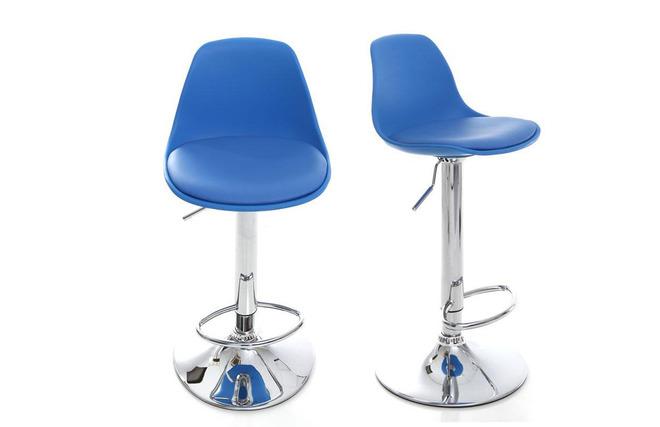 Gruppo di sgabelli da bar design colore blu steevy miliboo