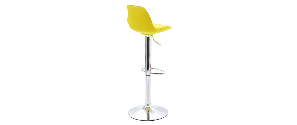 Gruppo di 2 sgabelli da bar design colore giallo STEEVY