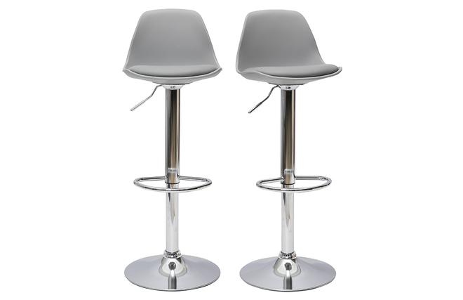 Gruppo di 2 sgabelli da bar design colore grigio chiaro steevy miliboo