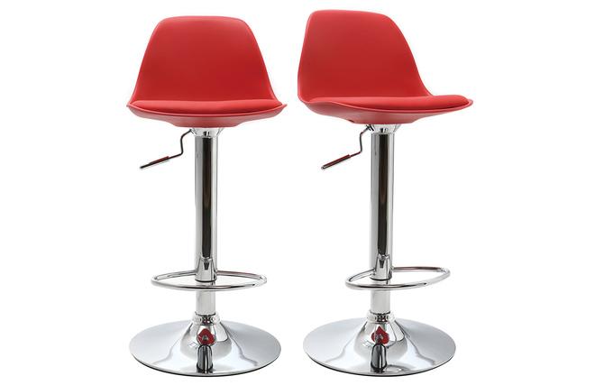 Gruppo di sgabelli da bar design colore rosso steevy miliboo
