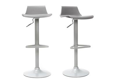 Gruppo di 2 sgabelli da bar design grigi KRONOS