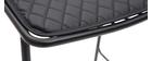 Gruppo di 2 sgabelli da bar design in metallo nero con cuscino 75 cm FEELING