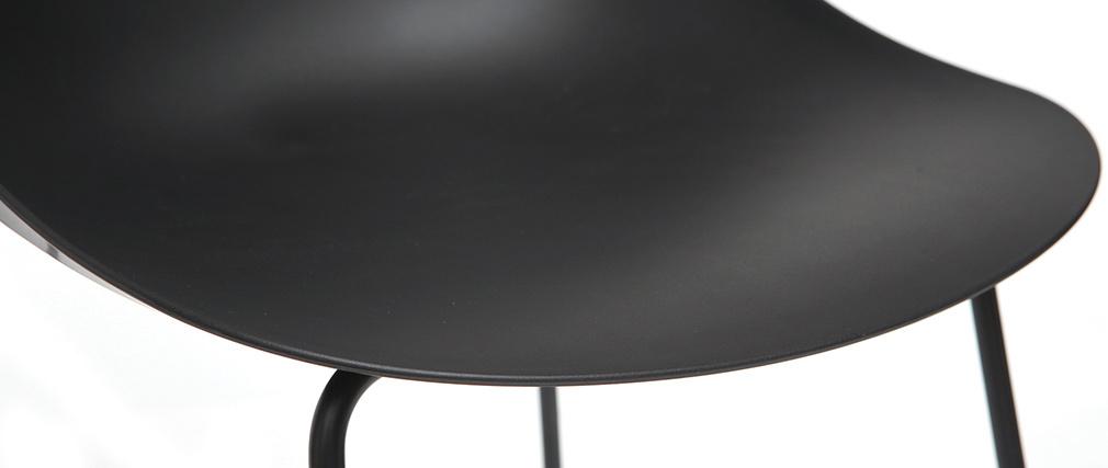 Gruppo di 2 sgabelli da bar design neri 77 cm CONCHA