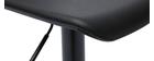 Gruppo di 2 sgabelli da bar design neri KRONOS