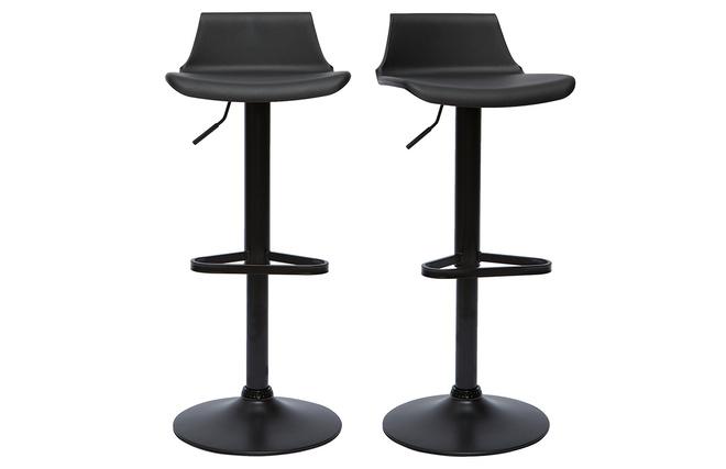 Gruppo di 2 sgabelli da bar design neri kronos miliboo