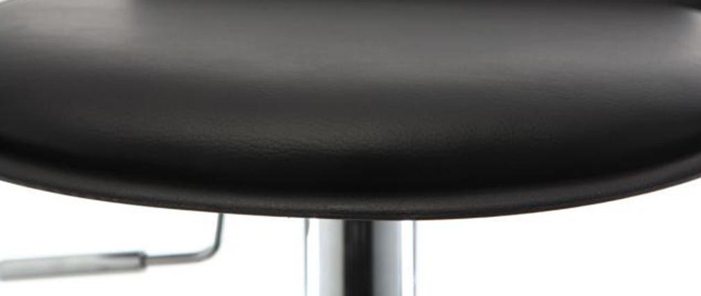 Gruppo di 2 sgabelli da bar design neri NOVA