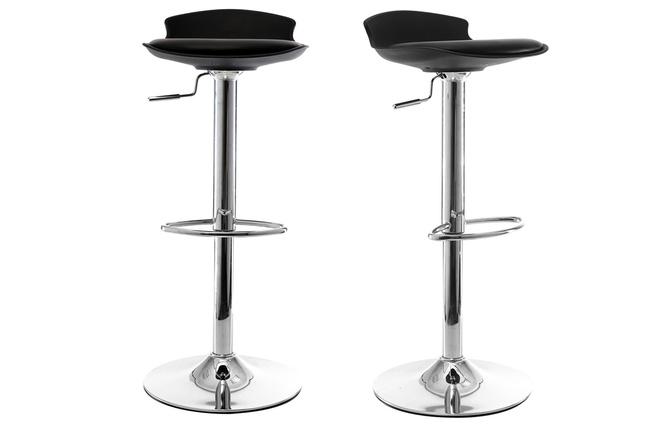 Gruppo di 2 sgabelli da bar design neri nova miliboo