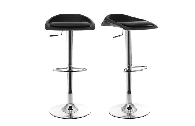 Gruppo di 2 sgabelli da bar design nero syrius miliboo