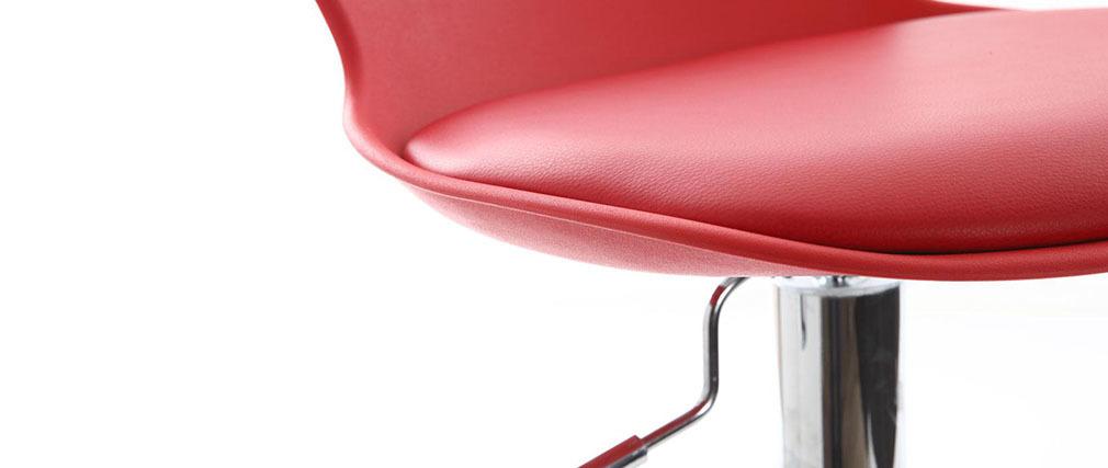 Gruppo di 2 sgabelli da bar design rossi NOVA