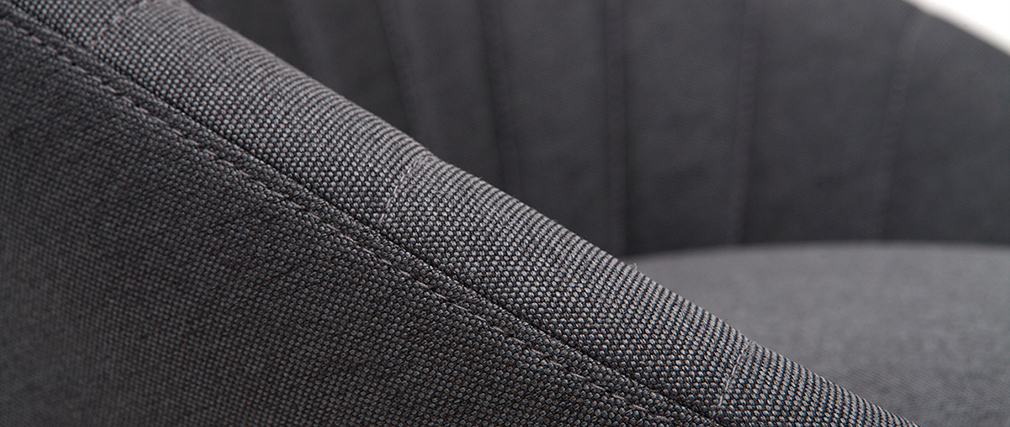 Gruppo di 2 sgabelli da bar design tessuto grigio scuro 65 cm SHERU