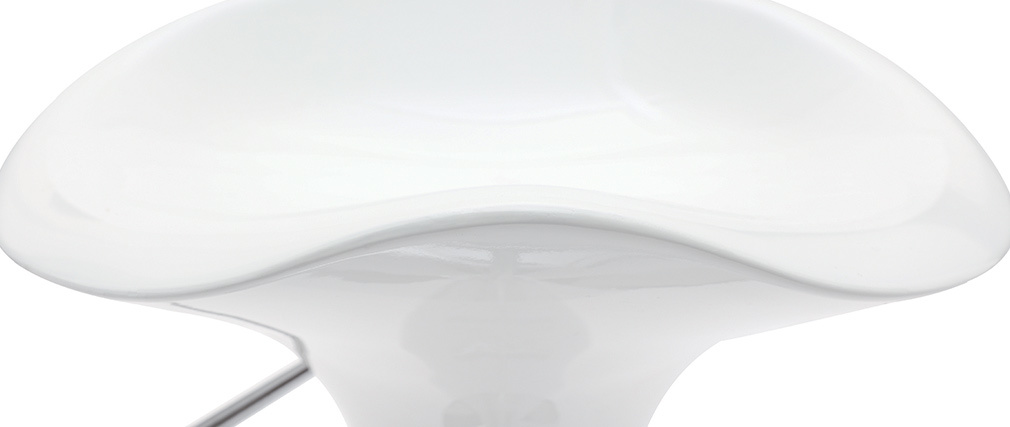 Gruppo di 2 sgabelli da bar GALAXY bianco