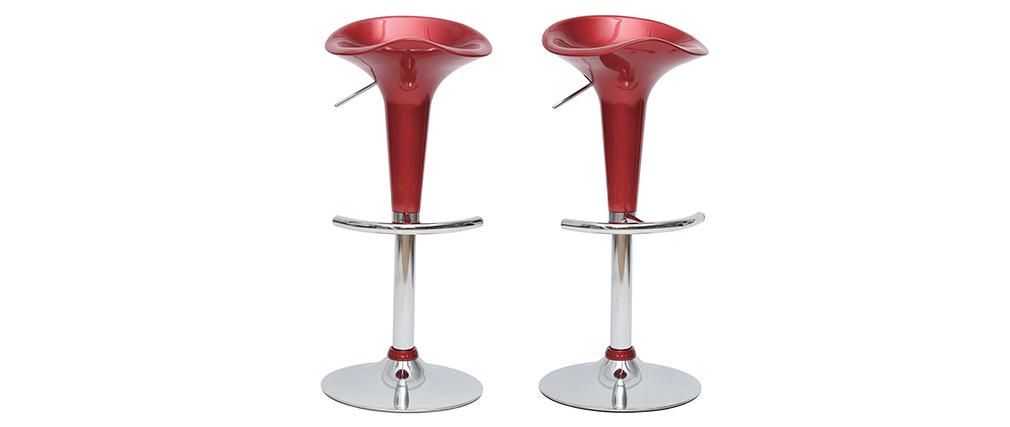 Gruppo di 2 sgabelli da bar GALAXY vinaccio
