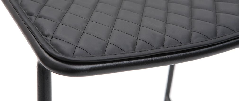 Gruppo di 2 sgabelli da bar in metallo nero con cuscino 65 cm FEELING