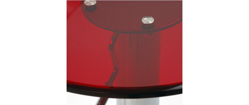 Gruppo di 2 sgabelli da bar plexiglas rosso trasparente - ORION