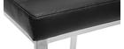 Gruppo di 2 sgabelli da bar PU nero 66 cm TOMY