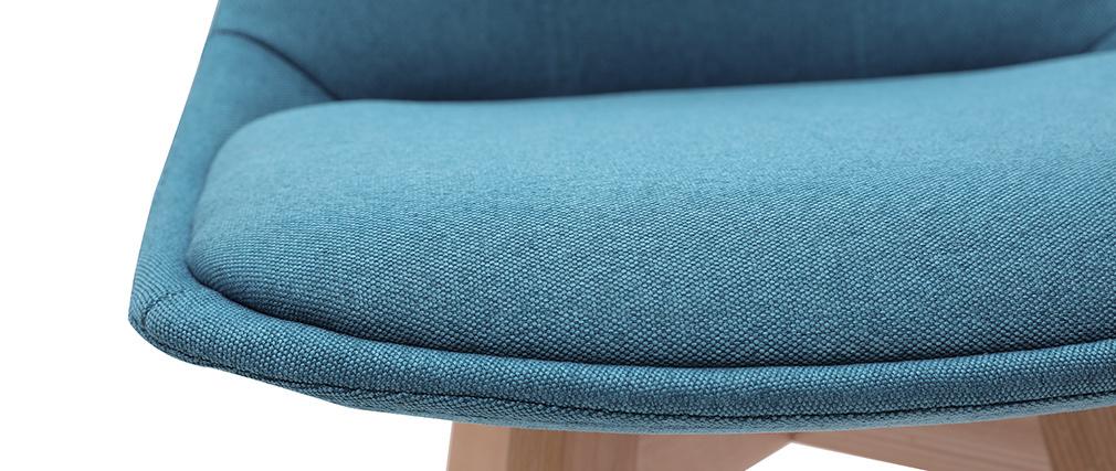 Gruppo di 2 sgabelli da bar scandinavi blu anatra 65 cm MATILDE