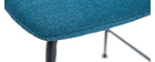 Gruppo di 2 sgabelli da bar tessuto e metallo blu anatra 65 cm SAURY