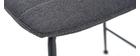 Gruppo di 2 sgabelli da bar tessuto e metallo grigio scuro 65 cm SAURY