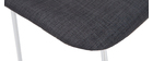 Gruppo di 2 sgabelli da bar tessuto grigio 75 cm PALIKAO